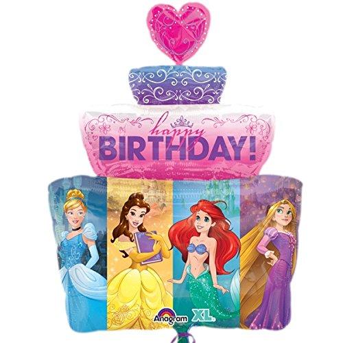 (Disney Princess Cake Happy Birthday Super Shape Mylar)
