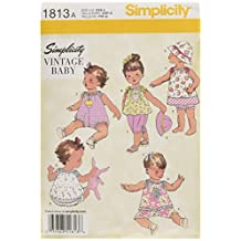 Simplicity 1813 Babies Dress and Separates Sewing Pattern, Size A (XX-Small - X-Small - Small - Medium - Large)