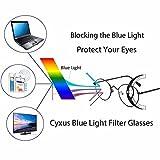 Cyxus Blue Light Blocking Computer Glasses [Better Sleep] Anti Digital Eye Strain Headache Video Eyewear (black)