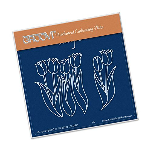 Groovi Tulips A6 Square Baby Plate, GRO40158