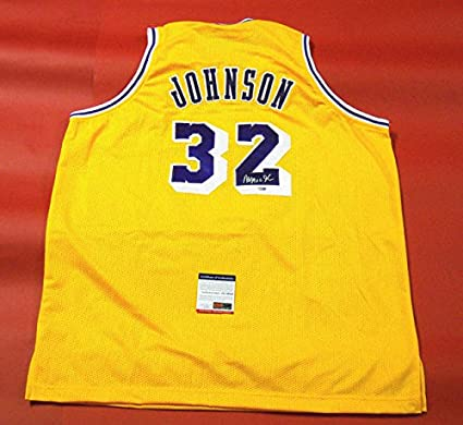 Image Unavailable. Image not available for. Color  MAGIC JOHNSON  AUTOGRAPHED LOS ANGELES LAKERS JERSEY ... abd9dbb87