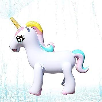 Wishtime Unicornio Regadera Inflable Agua Juguetes Inflables al ...