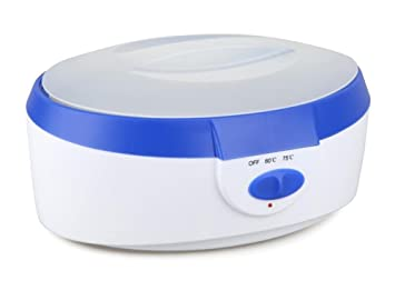 7f05cb44d1 Calentador de cera 2 Litros Alto Capacidad Calentador de cera SPA Parafina  Bañera Mano Pies Cera Piel Tratamiento Máquina Conjunto Azul/rosado , blue:  ...