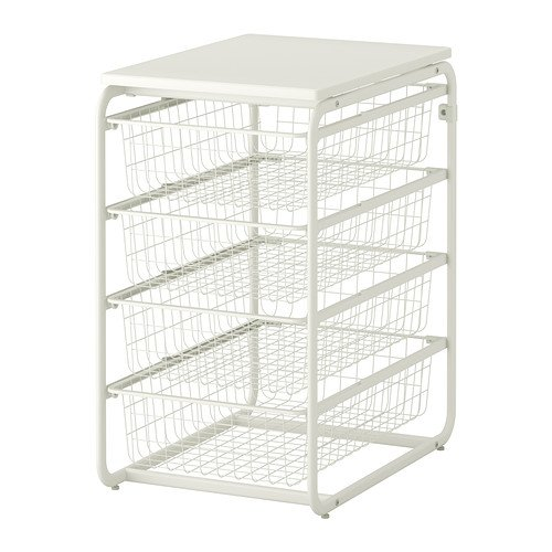 ALGOT フレーム/ワイヤーバスケット4個/トップシェルフ ,IKEA (599.057.32) B00B0MM8LG