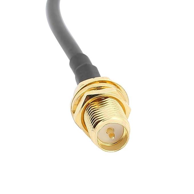 Amazon.com: eDealMax 5Pcs 50cm RG174 Cable de extensión de la antena RP-SMA Macho a hembra conector en Espiral Cable: Electronics