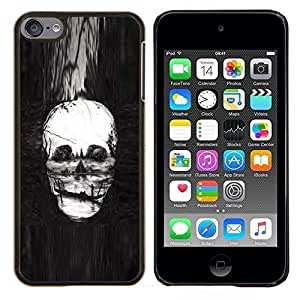 Planetar® ( Cráneo Pintura profundo Muerte Infierno Gondola ) Apple iPod Touch 6 6th Touch6 Fundas Cover Cubre Hard Case Cover
