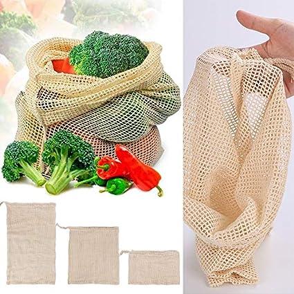 Bolsas de Verduras Popular Algodón Fruta y verdura con cordón ...