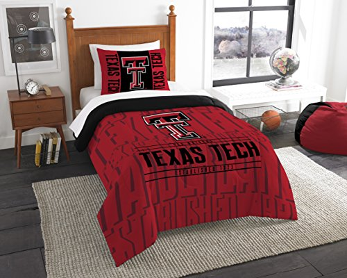The Northwest Company Officially Licensed NCAA Texas Tech Red Raiders Modern Take Twin Comforter and Sham