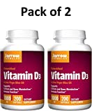 Jarrow Formulas Vitamin D3 1,000 IU Softgels, 200 ct (Pack of 2)
