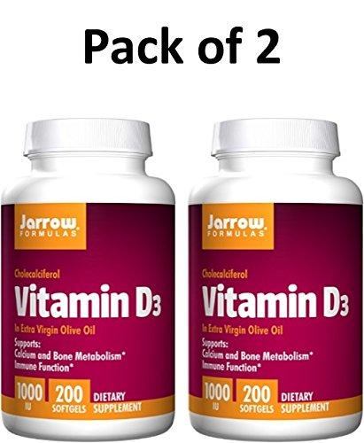 Jarrow Formulas Vitamin D3 1,000 IU Softgels, 200 ct (Pack of 2) by Jarrow (Image #2)