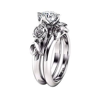 Rings Lovely Style Retro Shape Rings Fashion Alloy Geometric Rhinestone Hollow Women