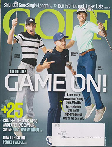 Golf January 2019 The Future? Game On: Joaquin Niemann, Cameron Champ, Sam Burns