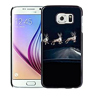 New Pupular And Unique Designed Case For Samsung Galaxy S6 With Mercedes Benz Raindeer Headlights Black Phone Case