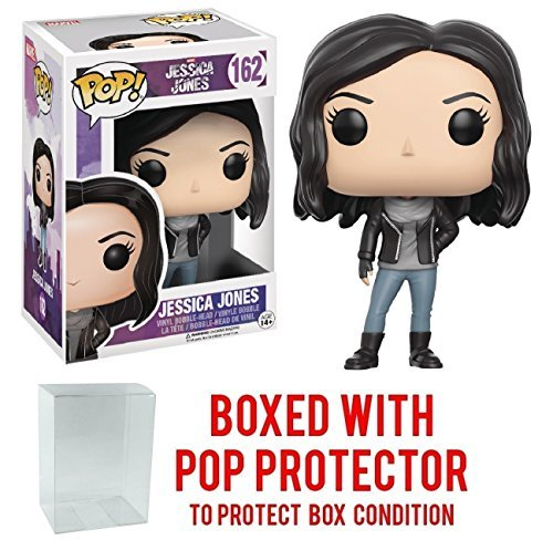 Funko Pop! Marvel: Jessica Jones Netflix - Jessica Jones Vinyl Figure (Bundled with Pop BOX PROTECTOR CASE)