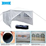 VINGLI Bonnlo 10' x 20' Heavy Duty Canopy Wedding Party Tent,with 6 Removable Sidewalls,Upgraded Steady Sunshade Winter Shelter Outdoor Carport Event Carport Gazebo Pavilion,w/Carrying Bag