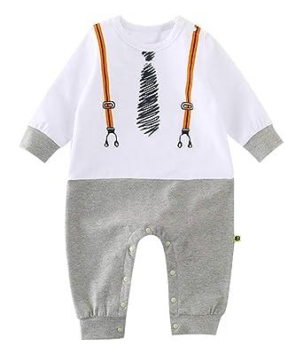9b2af6528786a Lukis Pyjama Bébé Fille Garçon 0-12 Mois Combinaison Body Manches Longues  en Coton Grenouillères