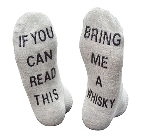 Qrupoad Unisex Fun Non Skid Crew Socks If You Can Read This Bring Me A Whisky Whisky Whiskey