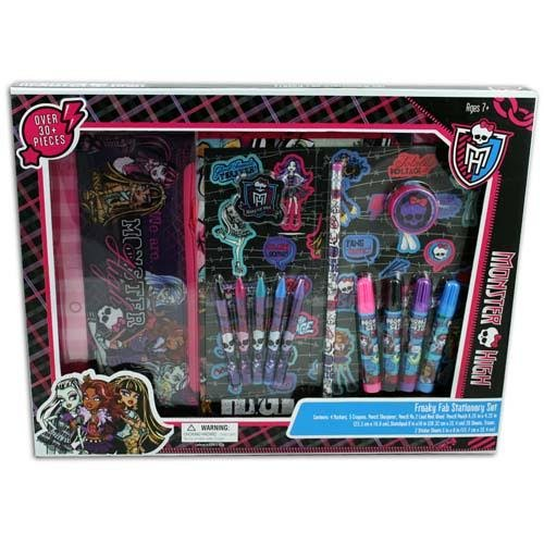 Monster High Freaky Fab Stationary Set 30 Pieces (Monster High Kit)