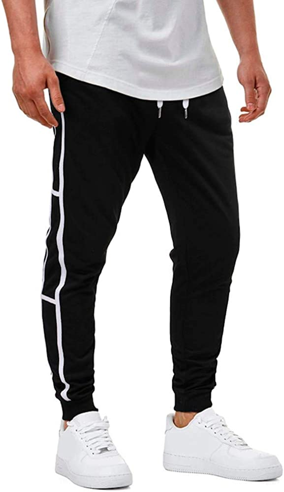 Memefood Pantalón de Cremallera para Hombre Pantalones Casual ...
