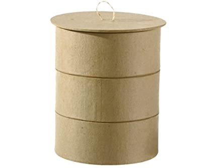 Amazon com: Paper Mache Bento Box to Decorate - 12x14cm