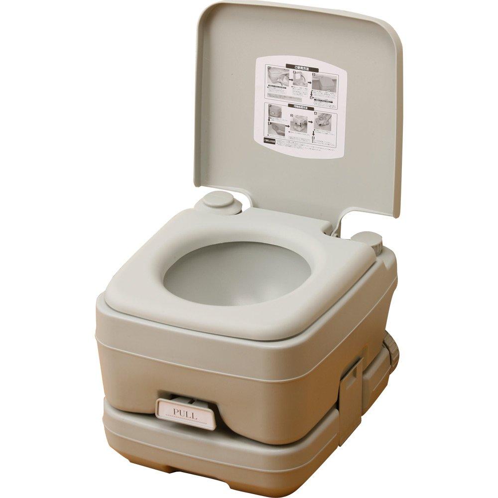 本格派ポータブル水洗トイレ 簡易トイレ (10L) YZPT-10(G) B00288YUIU