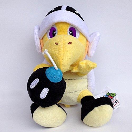 Generic Koopa Troopa Bob-omb Plush Toy Super Mario Bros Bomb Black Turtle Stuffed Animal Soft Figure Doll 8'' by Generic