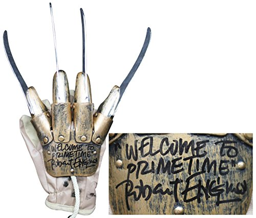 Robert Englund Welcome To Primetime Signed Deluxe Freddy Krueger Glove BAS 2 - Beckett (Freddy Krueger Deluxe Glove)
