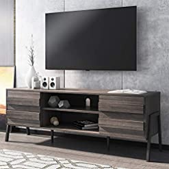 Living Room WAMPAT Mid-Century Modern TV Stand for TVs up to 65 inch Flat Screen Wood TV Console Media Cabinet with Storage, Home… modern tv stands