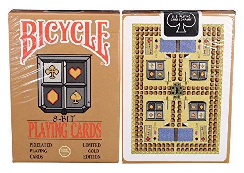 Bicycle 8-Bit Playing Cards, Gold by Bicycle