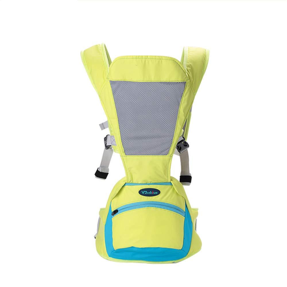 FIFY Babytrage Baby-Schlinge Multifunktionslicht und Breathable Vier Jahreszeiten universelle vordere Umarmung horizontale Babysitz-Schemel-Taille Schemel kann gespeichert Werden, A