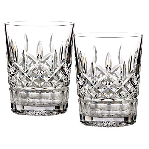 Waterford Lismore 12 oz Double Old Fashioned, Set of 2 (Set Highball Crystal Glass)
