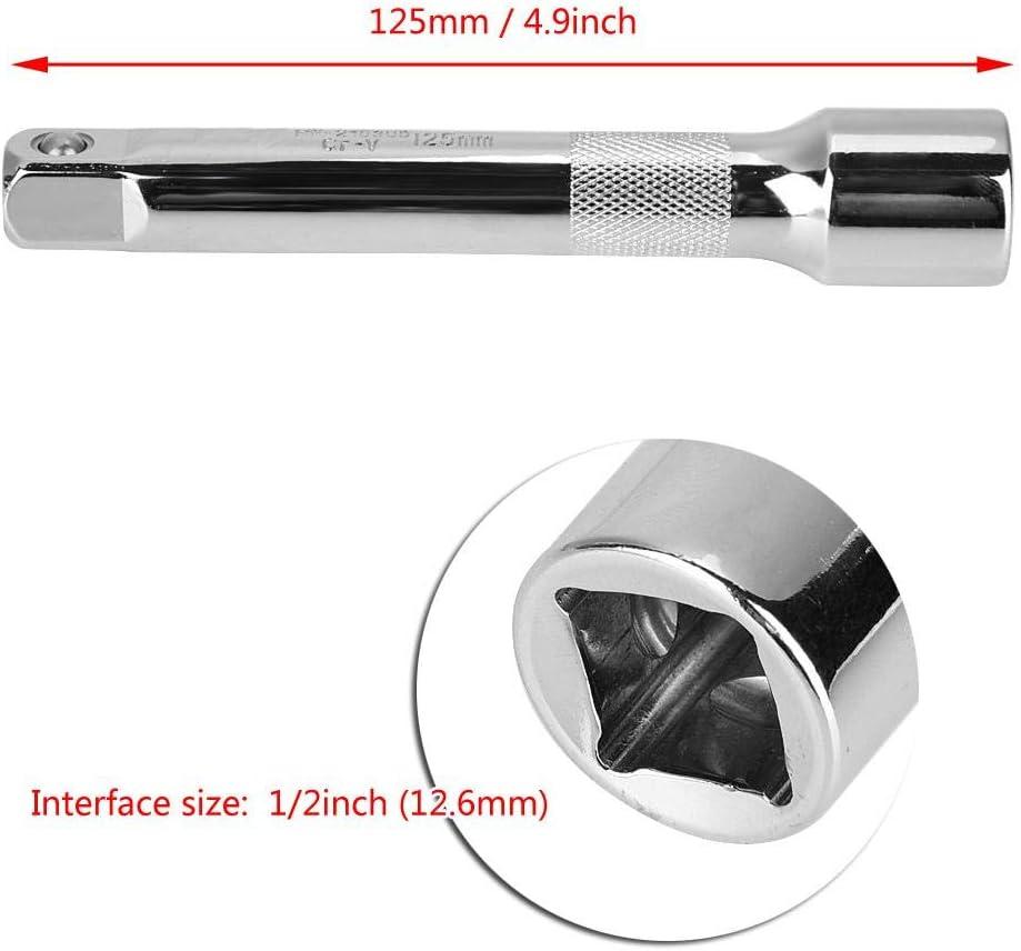 Cl/és /à douille entra/înement de barre dextension extra-longue en acier durable de 1//2 po pour la poign/ée /à rochet /à douille Medium