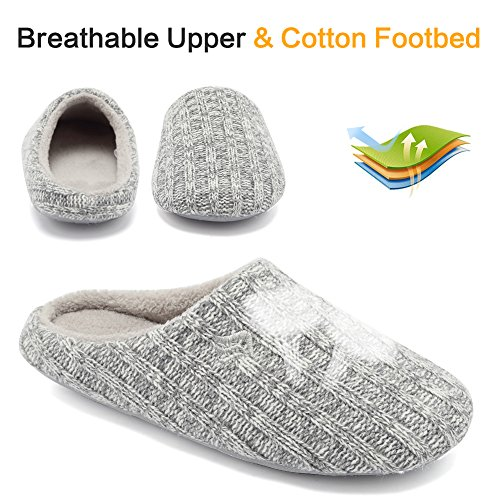 Autumn Foam Gray Fanture Light Slip Cashmere Indoor Knitted Slippers Memory Winter Cotton House Anti Womens wZZgqzX