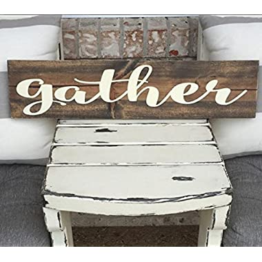 Gather Wooden Sign - Christmas Decor - Rustic - Farm House Sign - Christmas