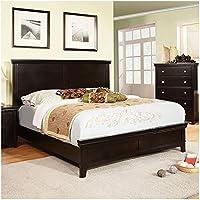247SHOPATHOME Idf-7113EX-CK Bed-Frames, California King, Espresso
