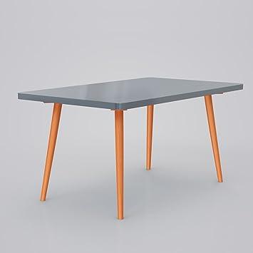 Vimes design esszimmertisch küchentisch tisch retro möbel grau ...