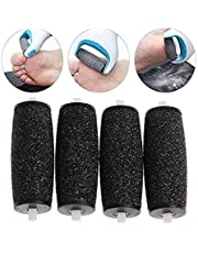 Majestik+® 4 Extra Coarse Replacement Pedi Roller Foot File Callus Remover Replacement Heads Compatible with Scholl Velvet Smooth