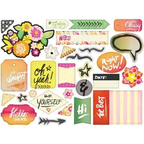 Basic Grey Highline Cardstock Die Cuts and Transparencies