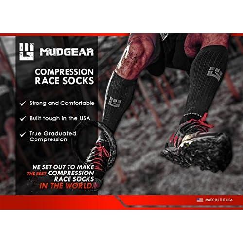 b0cda4c6e69 MudGear Premium Compression Socks - Mens   Womens running hiking trail (1  Pair)