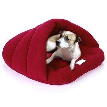 Comficent Casa para Mascotas y Sofá Interiores y Exteriores Portátil de Cama para Perro Gato. (L, Vino Rojo): Amazon.es: Productos para mascotas