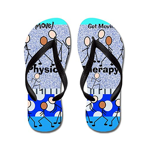 CafePress Physical Therapy - Flip Flops, Funny Thong Sandals, Beach Sandals Black