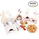 Gift Treat Bags Candy Cookie Chocolate Party Favor Goody Bags Wrapping Packaging Random 20pcs (Random)