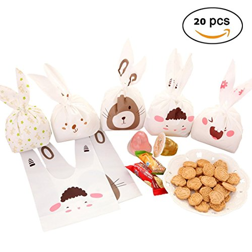 Gift Treat Bags Candy Cookie Chocolate Party Favor Goody Bags Wrapping Packaging Random 20pcs (Random) by In kds