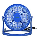 USB FAN - iKross USB Mini Desktop Office Fan with 360 Rotation - Blue