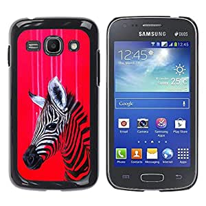 Be Good Phone Accessory // Hard Shell Protective Cover Case for Samsung Galaxy Ace 3 GT-S7270 GT-S7275 GT-S7272 // Zebra Art Red Colorful Painting Oil Drawing