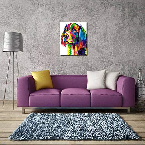 BFY Unframed Modern Abstract Oil Painting Watercolor Dog Huge Wall Decor Art On Canvas