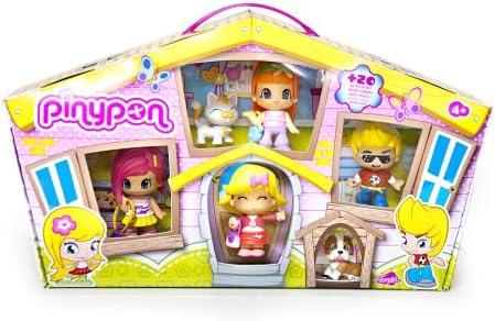 Pinypon - Pack de 4 Figuras y 2 Pets (Famosa 700010145): Amazon.es ...