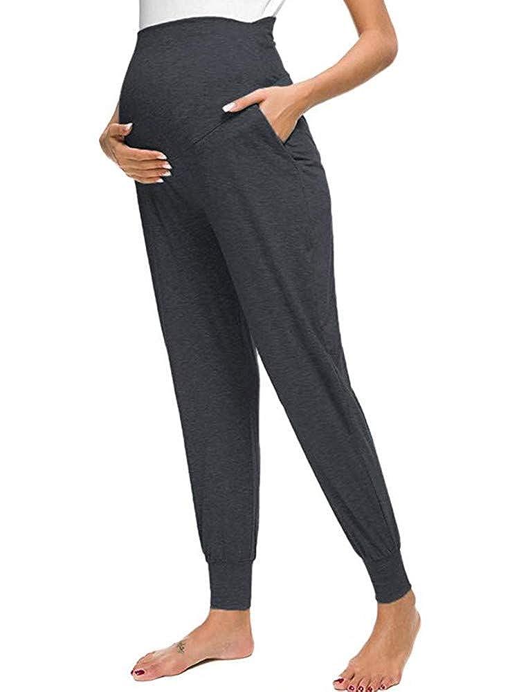 Umstandsleggings Schwangerschaft Hosen Bequeme Stretch Jogginghose Love2Mi Freizeithose f/ür Schwangere