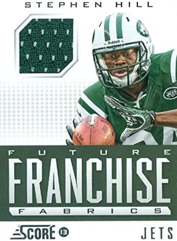 Stephen Hill player worn jersey patch football card (New York Jets ...