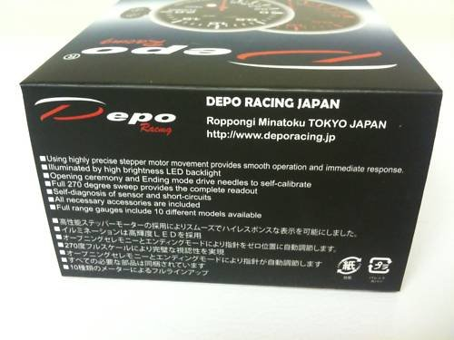 DEPO 52mm Racing Digital Boost Gauge PSI